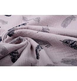 Oeko-Tex®  Double Gauze Fabric Dando Feather Light Old Pink