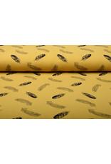 Oeko-Tex®  Baumwoll Musselin Dando Federn Ocker Gelb