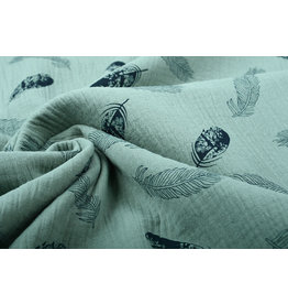Oeko-Tex®  Double Gauze Fabric Dando Feather Light Old Green