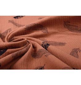 Oeko-Tex®  Double Gauze Fabric Dando Feather Brique