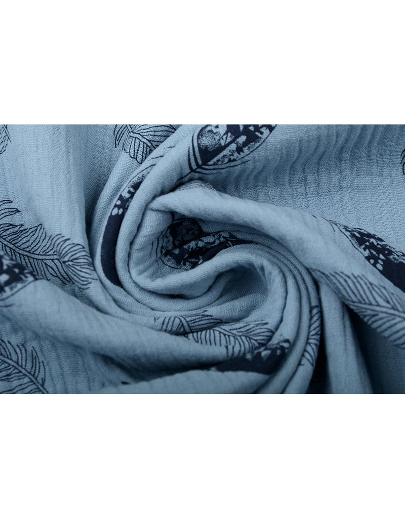 Oeko-Tex®  Baumwoll Musselin Dando Federn Leichte Jeans