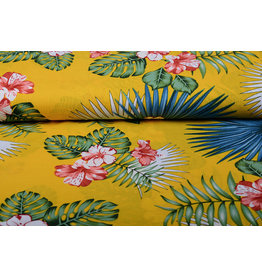 100% Viscose Aloha Ocher Yellow