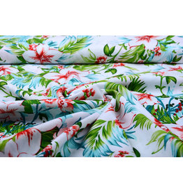 100% Viscose Tropicana Wit