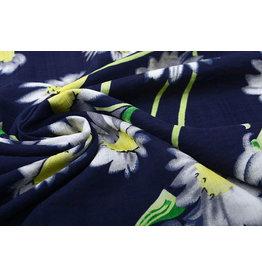 Cotton Viscose Cataleya  Navy Blue