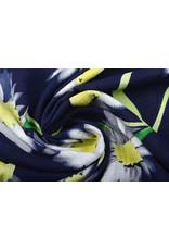 Katoen Viscose Cataleya  Marine Blauw