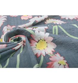 Cotton Viscose Cataleya Grey