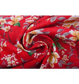 Cotton Viscose Amara Red