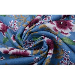 Cotton Viscose Amara Jeans Blue