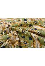 Baumwolle Viskose Corypha Palmblatt Gelb Grün