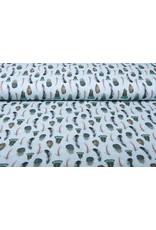 Stenzo 100% Digital Baumwolle Gashina Federn Blau