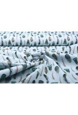 Stenzo 100% Digital Cotton  Gashina Feather Blue