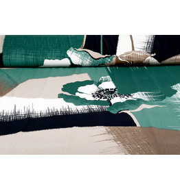 Paneel Lycra tricot Simmer Abstract Bloem Groen