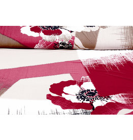 Panel Lycra jersey Simmer Abstract Flower Red