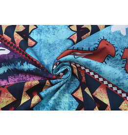 Batik Motiv Lila Blau