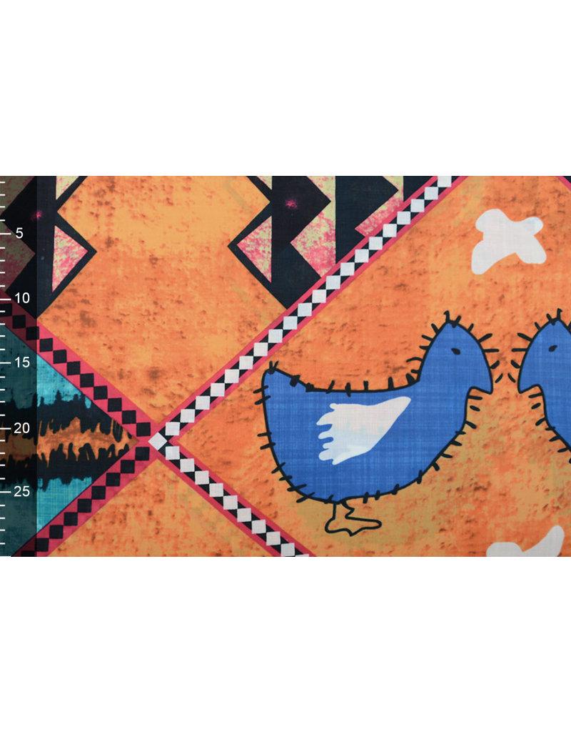 Batik Motiv Aqua Orange