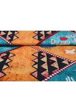 Batik Print Aqua Orange
