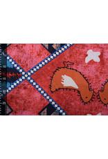 Batik Print Rood Blauw
