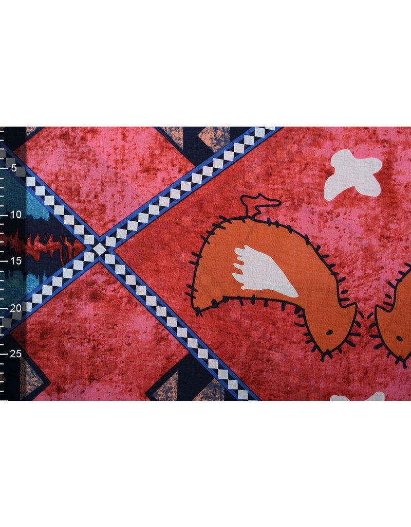 Batik Motiv Rot Blau