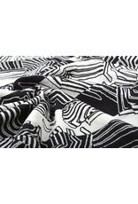 Baumwolle Viskose Zebra Schwarz Weiß