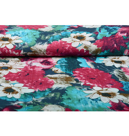 Cotton Viscose Water Lily Pink Blue
