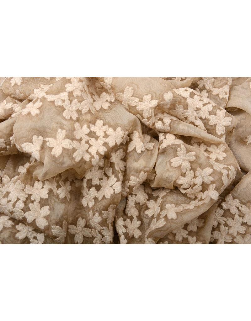 Bestickt Chiffon Aurora Sand
