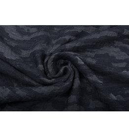 Bouclé - Jacquard Espacio Zwart