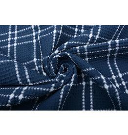 Oeko-Tex®  Waffelpiqué Baumwolle Karo Jeans