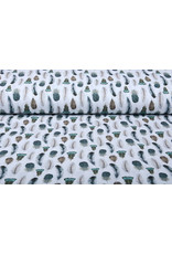 Stenzo 100% Digital Baumwolle Gashina Federn Weiß