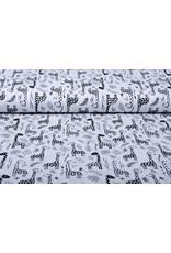 Stenzo 100% Digital Baumwolle Baby Giraffe Schwarz Weiß
