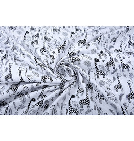 Stenzo 100% Digital Cotton Baby Giraffe Black White