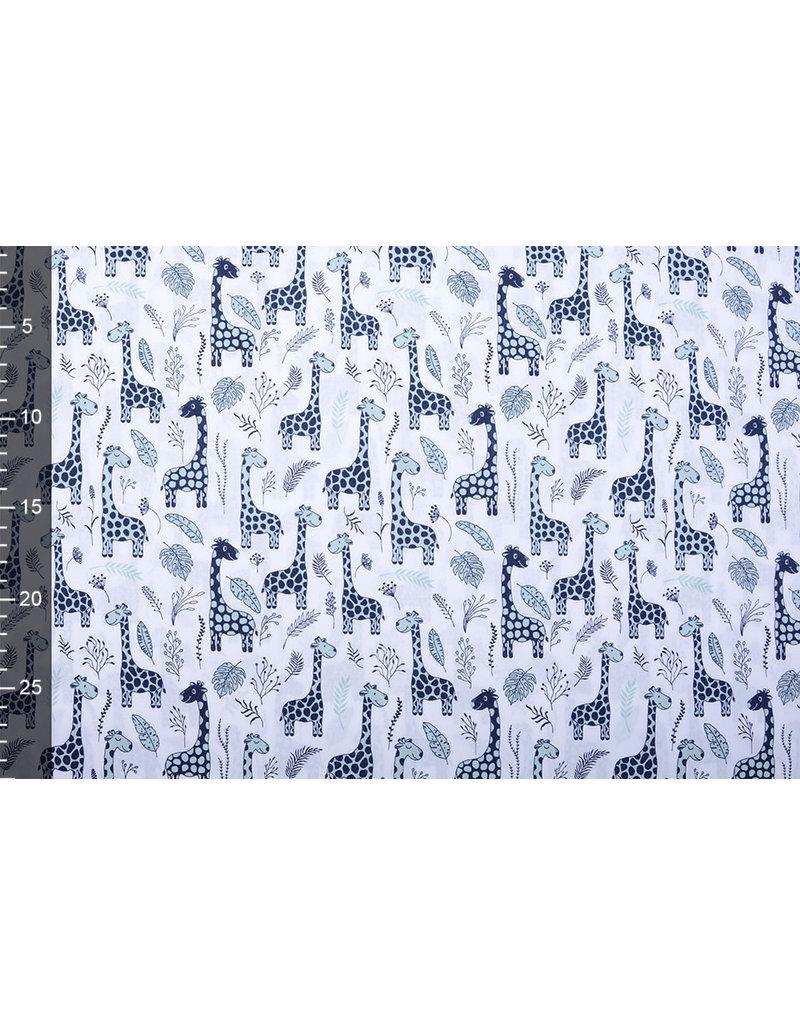 Stenzo 100% Digital Baumwolle Baby Giraffe Blau