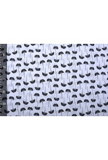 Stenzo 100% Digital Baumwolle Amarin Weiß Schwarz