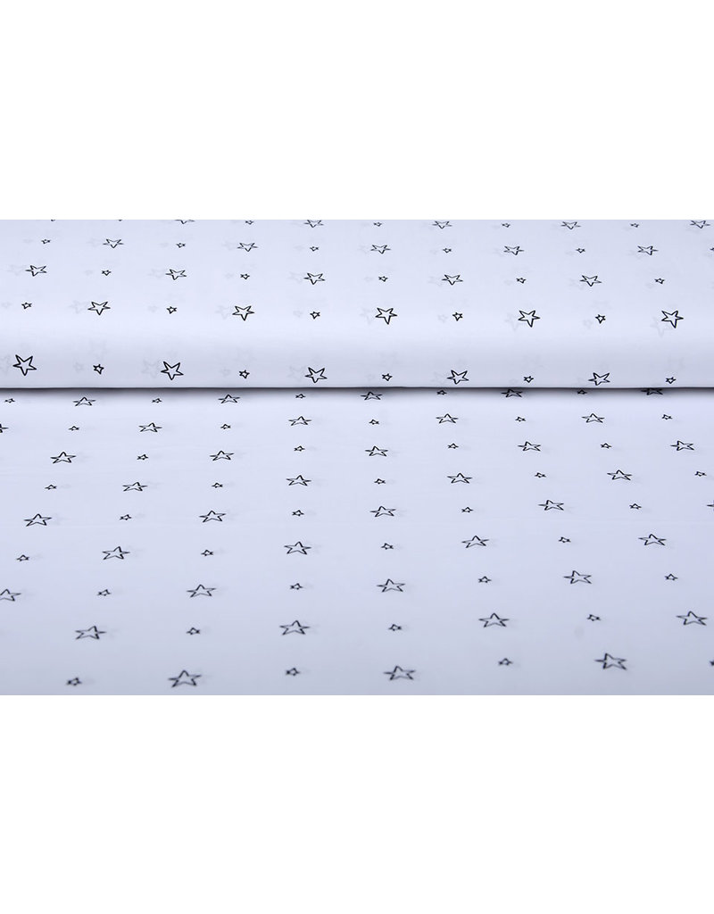 Stenzo 100% Digital Baumwolle Kleine Sterne Weiß
