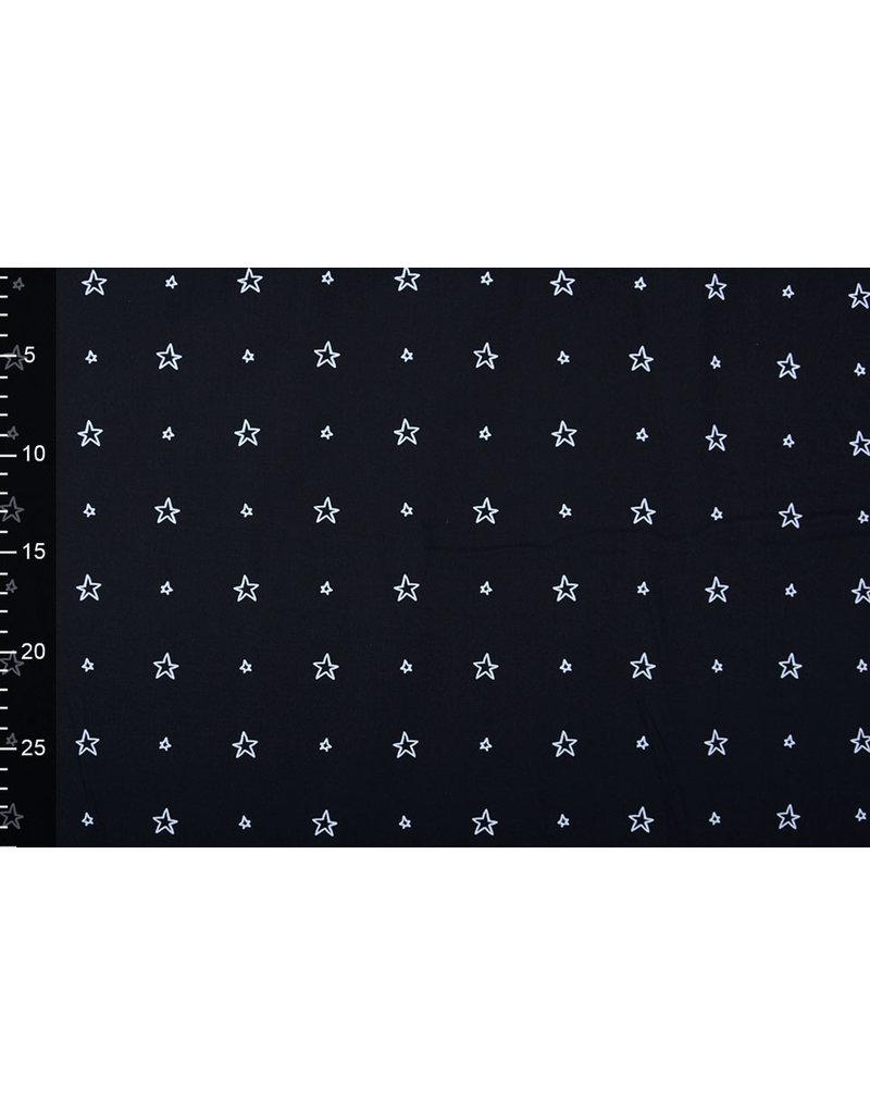 Stenzo 100% Digitaal Katoen Kleine Sterren Zwart