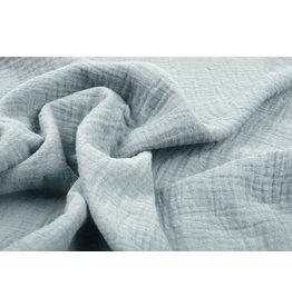 Oeko-Tex®  Baumwoll Musselin Stoff Blau Grau
