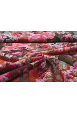 Stenzo 100% Voile Katoen Bloemen Roze