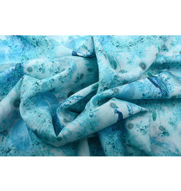 Stenzo 100% Voile Cotton Peacock Light Blue