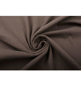 Oeko-Tex®  Double Gauze Fabric Brown