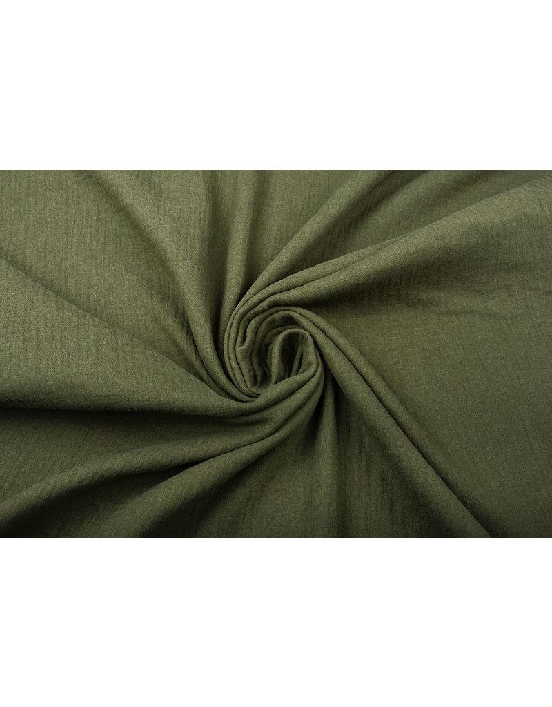 Oeko-Tex®  Baumwoll Musselin Dunkel Armeegrün