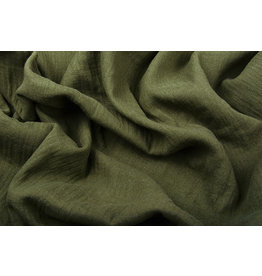 Oeko-Tex®  Hydrofiel Stof Donker Army Groen