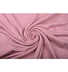 French Terry Sweatshirt Fabric Old Pink Melange