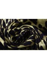 Digital Baumwoll Stretch Pantherdruck