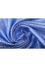 Brokat Kleine Blumen Blau