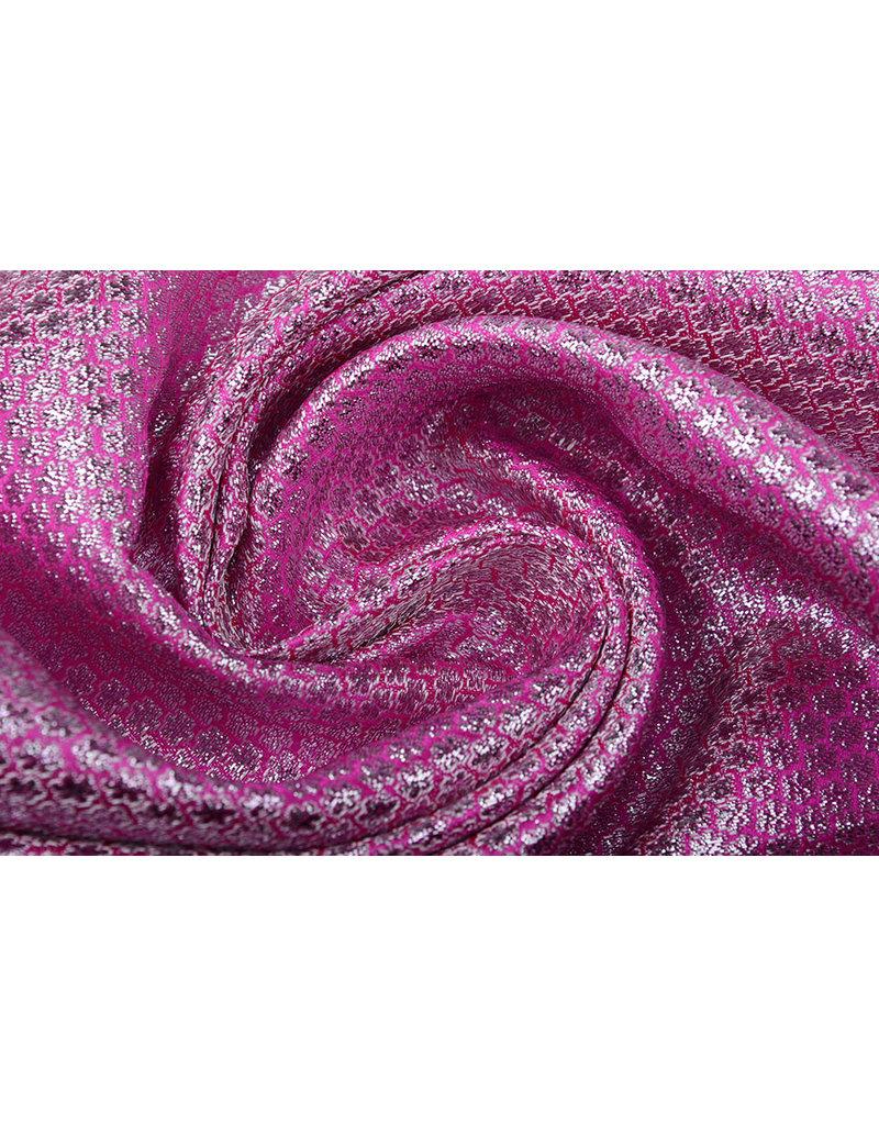 Brokaat Kleine Bloemen Roze