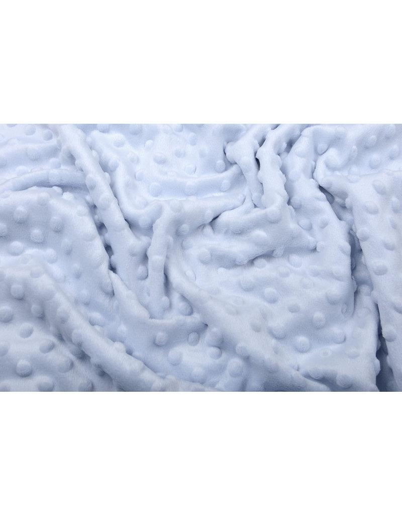 Minky Fleece Grau Babyblau