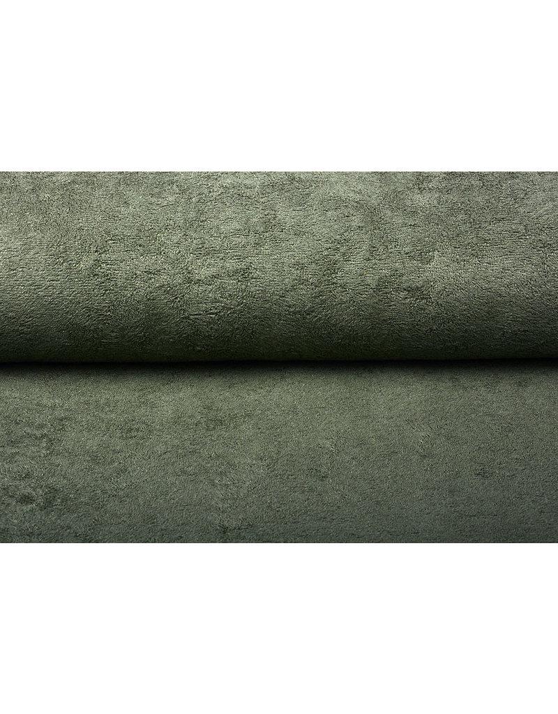 Oeko-Tex®  Bamboe Badstof Army Groen