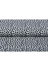 Stenzo 100% Digital Baumwolle Spots Weiß Schwarz