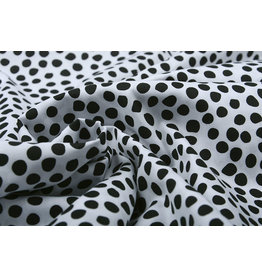 Stenzo 100% Digital Cotton Spots White Black