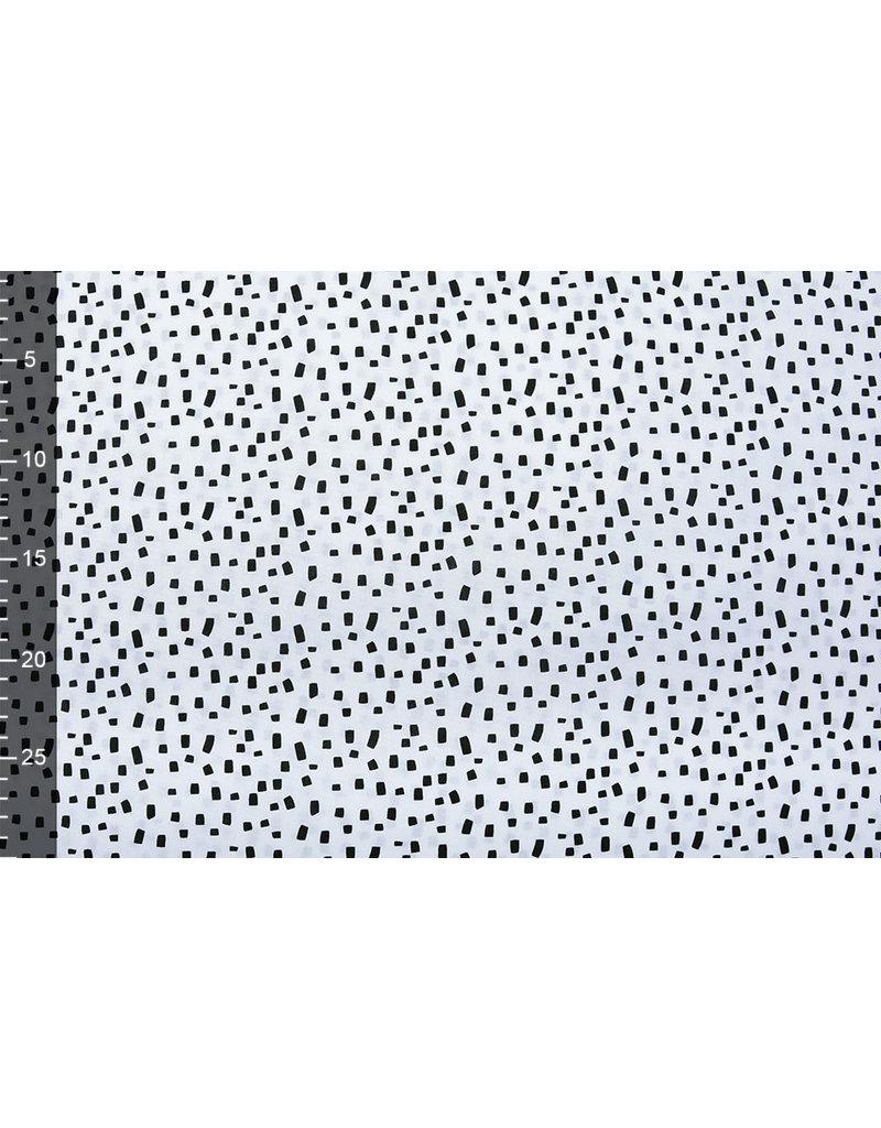 Stenzo 100% Digital Baumwolle Squares Weiß Schwarz