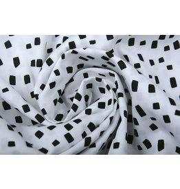 Stenzo 100% Digitaal Katoen Squares Wit Zwart